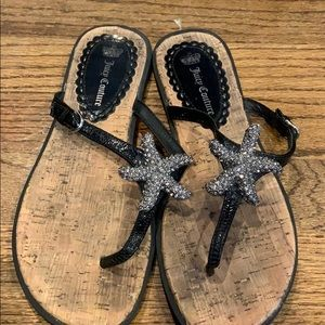 Juicy Couture Sandals with Jeweled Starfish 8.5